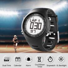 Цифровые уличные спортивные мужские часы для бега, Водонепроницаемые многофункциональные часы с будильником и секундомером, женские часы L008-in Цифровые часы from Ручные часы on AliExpress Ezon 32498519655