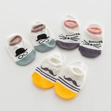 Носки для маленьких мальчиков и девочек новорожденных малышей хлопка мультфильм Усы Мышь лоскутное Носки для девочек Kacakid 32803359915