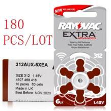 180 шт./лот слуховой аппарат батареи 13A PR48 ZA13/312A PR41 ZA312/10A PR70 ZA10 цинко-Воздушный Аккумулятор для очень слуховые аппараты RAYOVAC 32795740388