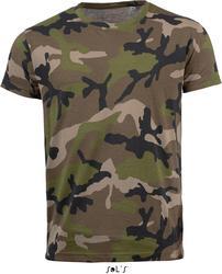 25.1188 SOL'S | Camo Men moška Camouflage majica