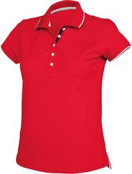 20.K252 Kariban | K252 ženska večbarvna Piqué polo majica