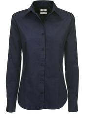 01.0T83 B&C | Sharp LSL /women Twill bluza z dolgimi rokavi