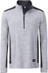 02.0864 James & Nicholson | JN 864 moški delovni pulover iz pletenega flisa s kratko zadrgo