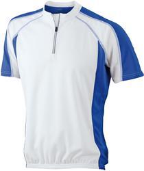 02.0420 James & Nicholson | JN 420 Moška kolesarska majica z ¼ zadrgo