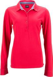 02.0713 James & Nicholson | JN 713 Ženska Piqué Polo majica dolg rokav