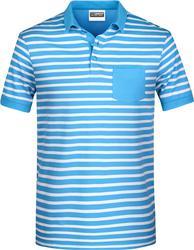 02.8030 James & Nicholson | JN 8030 Moška Piqué Polo majica s črtami