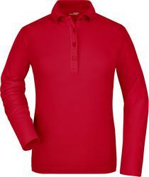 02.0180 James & Nicholson | JN 180 ženska piqué polo majica z elastanom z dolgimi rokavi