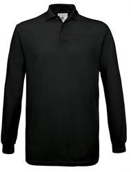 01.0414 B&C | Safran LSL Piqué polo majica z dolgimi rokavi