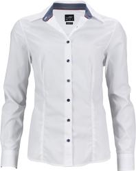 02.0647 James & Nicholson | JN 647 Ženska Popline bluza 'Plain'
