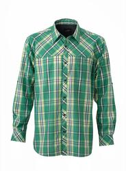 02.0580 James & Nicholson | JN 580 moška UV-Protect Trekking srajca z dolgimi rokavi