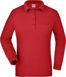 02.0865 James & Nicholson | JN 865 ženska delovna polo majica z žepkom in dolgimi rokavi