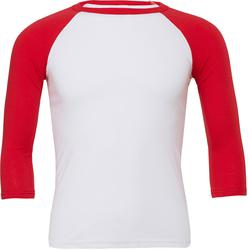 06.3200 Bella + Canvas | 3200 Unisex Baseball majica s 3/4 rokavi