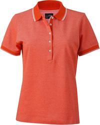 02.0703 James & Nicholson | JN 703 ženska Piqué dvobarvna polo majica