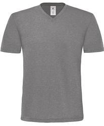 01.0185 B&C | Mick Deluxe /men moška telirana v-izrez majica