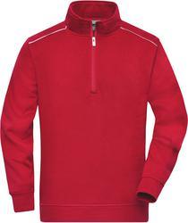 02.0895 James & Nicholson | JN 895 Delovno oblačilo, Pulover s kratko zadrgo -Solid-