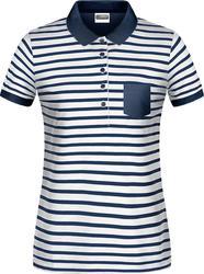 02.8029 James & Nicholson | JN 8029 Ženska Piqué Polo majica s črtami