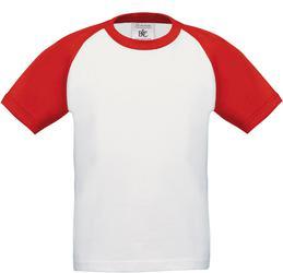 01.0350 B&C | Base-Ball /kids Otroška raglan večbarvna majica