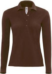 01.0456 B&C | Safran Pure LSL /women ženska piqué polo majica z dolgimi rokavi