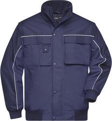 02.0810 James & Nicholson | JN 810 Workwear jopica z zadrgo za skrajšanje rokavov