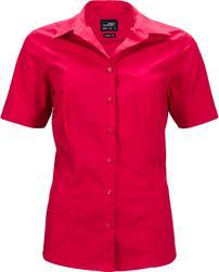 02.0643 James & Nicholson | JN 643 Ženska Poslovna popline bluza kratek rokav