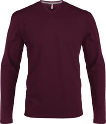 20.K358 Kariban | K358 moška v-izrez majica z dolgimi rokavi