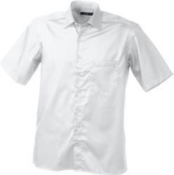 02.0607 James & Nicholson | JN 607 Twill poslovna srajca s kratkimi rokavi