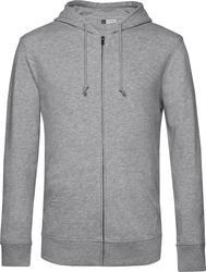 01.U35B B&C | Organski Zipped Hood Moški organski pulover s kapuco