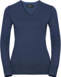 11.710F Russell   710F ženski v-izrez pleten pulover