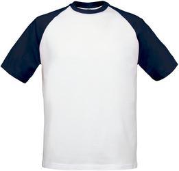 01.0020 B&C | Base-Ball Raglan večbarvna majica