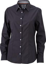 02.0618 James & Nicholson | JN 618 Poplin karirasta bluza