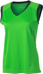 02.0469 James & Nicholson | JN 469 Ženska tekaška majica v-izrez brez rokavov