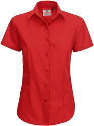 01.0P64 B&C | Smart SSL /women Poplin Mix bluza s kratkimi rokavi
