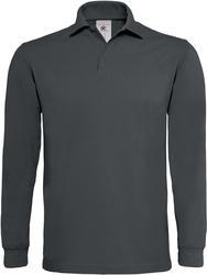 01.0423 B&C | Heavymill LSL Debelejša polo majica z dolgimi rokavi