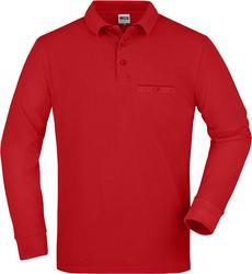 02.0866 James & Nicholson | JN 866 moška delovna polo majica z žepkom in dolgimi rokavi