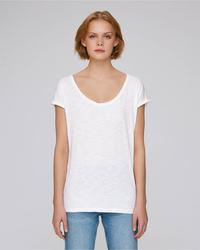 STTW145 Stella Invents Slub The women's v-neck raw edge t-shirt