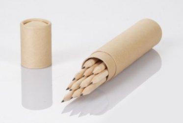 pencils01 Svinčniki v kartonskem tulcu Neošiljeni svinčniki v kartonskem tulcu, 12 kos