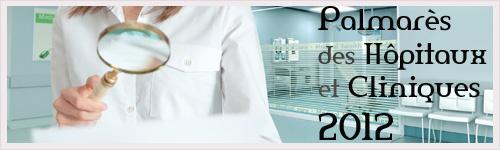 Palmarès des Hôpitaux et Cliniques : classement national 2012