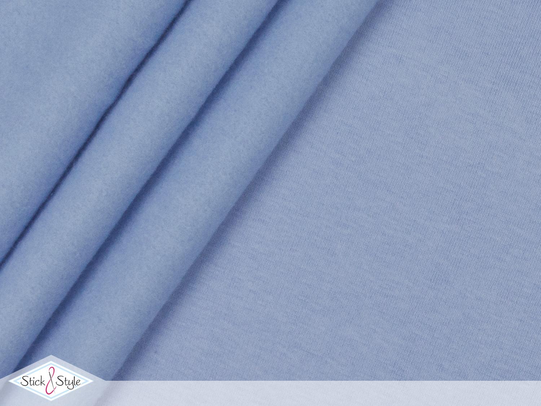 sweat stoff uni hellblau kuschelweich stoffe und meterware g nstig online. Black Bedroom Furniture Sets. Home Design Ideas