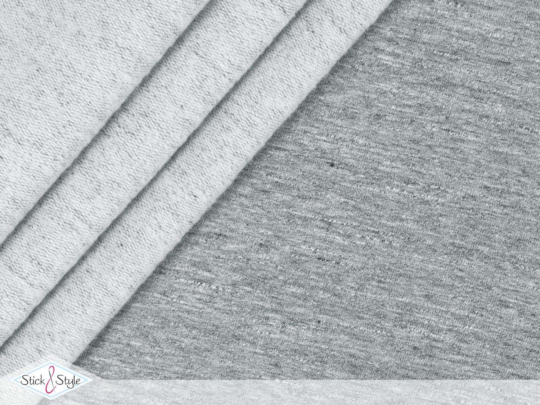 sweat stoff vintage uni hellgrau meliert stoffe und meterware g nstig online. Black Bedroom Furniture Sets. Home Design Ideas