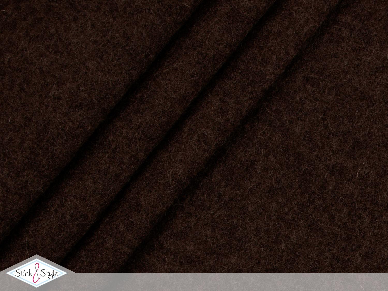walk walkloden dunkelbraun wolle stoffe und meterware g nstig online. Black Bedroom Furniture Sets. Home Design Ideas