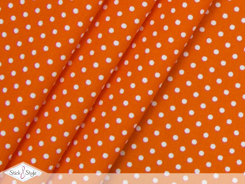 stoff baumwolle p nktchen orange stoffe und meterware g nstig online. Black Bedroom Furniture Sets. Home Design Ideas