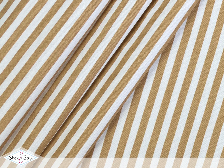 stoff baumwolle streifen 0 5 cm beige stick und style. Black Bedroom Furniture Sets. Home Design Ideas