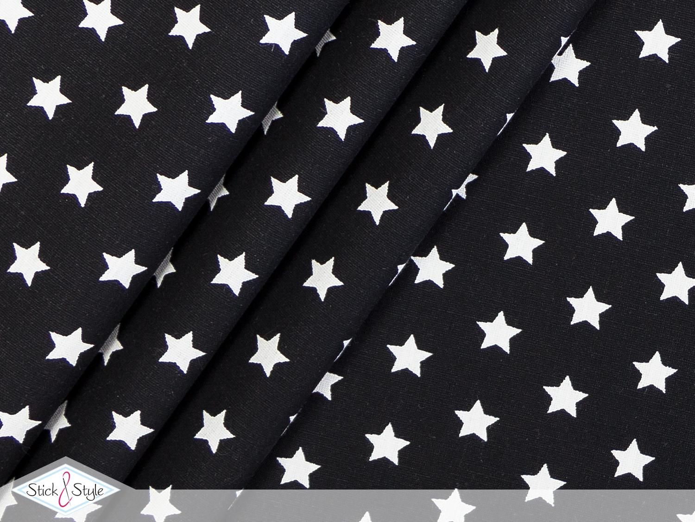 stoff baumwolle kleine sterne schwarz stoffe und meterware g nstig online. Black Bedroom Furniture Sets. Home Design Ideas
