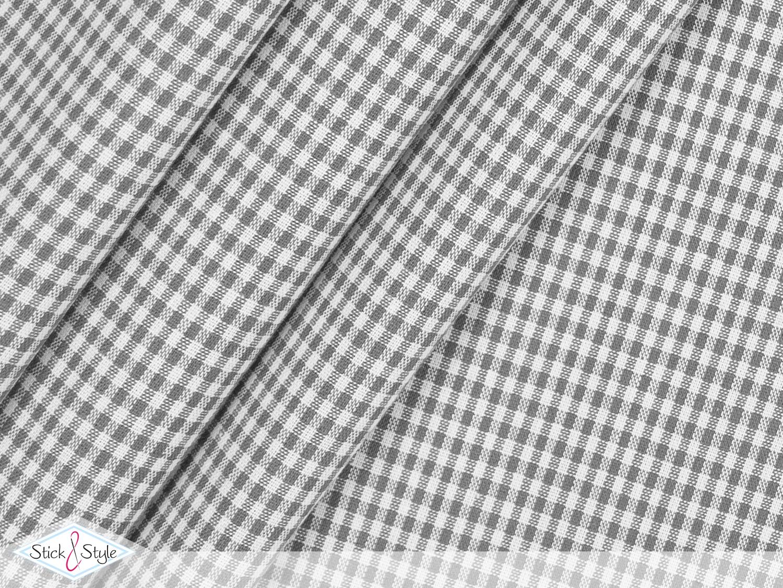 stoff baumwolle kleinkariert hellgrau stoffe und meterware g nstig online. Black Bedroom Furniture Sets. Home Design Ideas