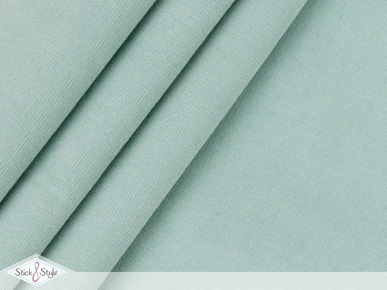 babycord elastisch mint stoffe und meterware g nstig. Black Bedroom Furniture Sets. Home Design Ideas