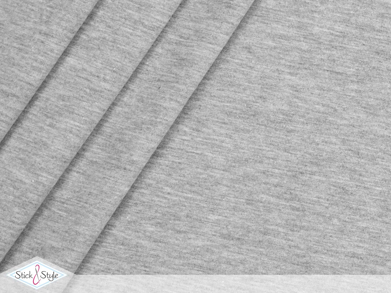 jersey baumwolle uni hellgrau meliert stoffe und meterware g nstig online. Black Bedroom Furniture Sets. Home Design Ideas