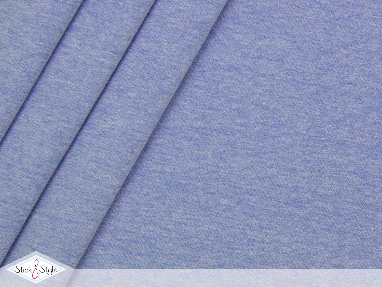 jersey baumwolle uni himmelblau meliert stoffe und meterware g nstig online. Black Bedroom Furniture Sets. Home Design Ideas