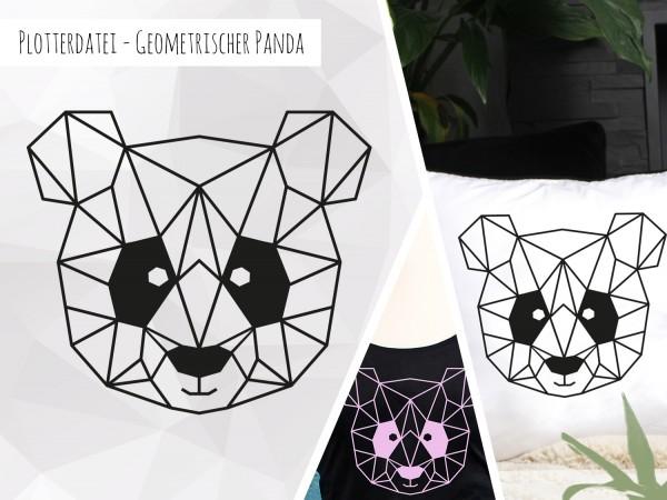 Plottervorlage Geometrischer Panda | Stoffe und Meterware günstig online