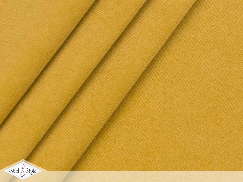 babycord elastisch senf stoffe und meterware g nstig. Black Bedroom Furniture Sets. Home Design Ideas
