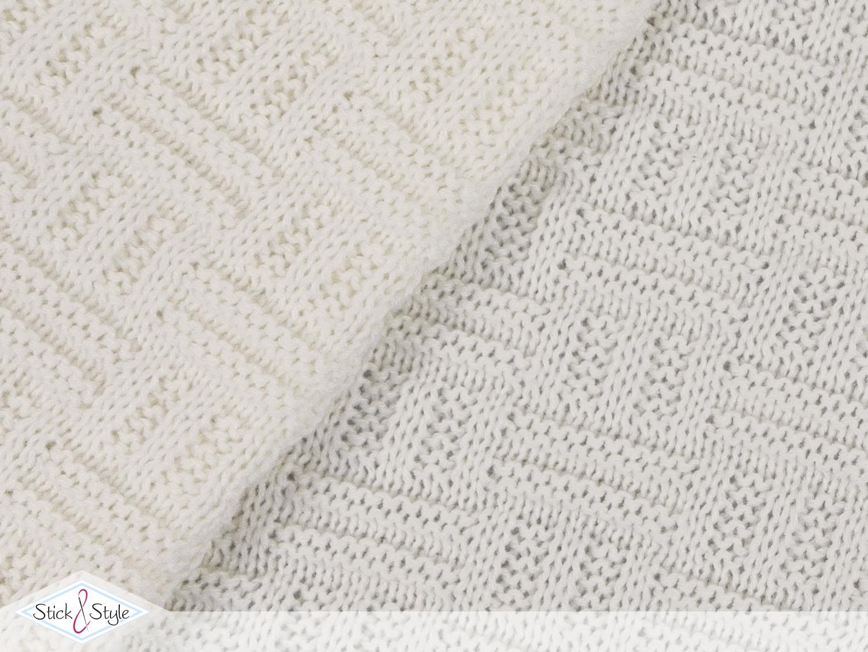 strickstoff flechtmuster creme stoffe und meterware g nstig online. Black Bedroom Furniture Sets. Home Design Ideas